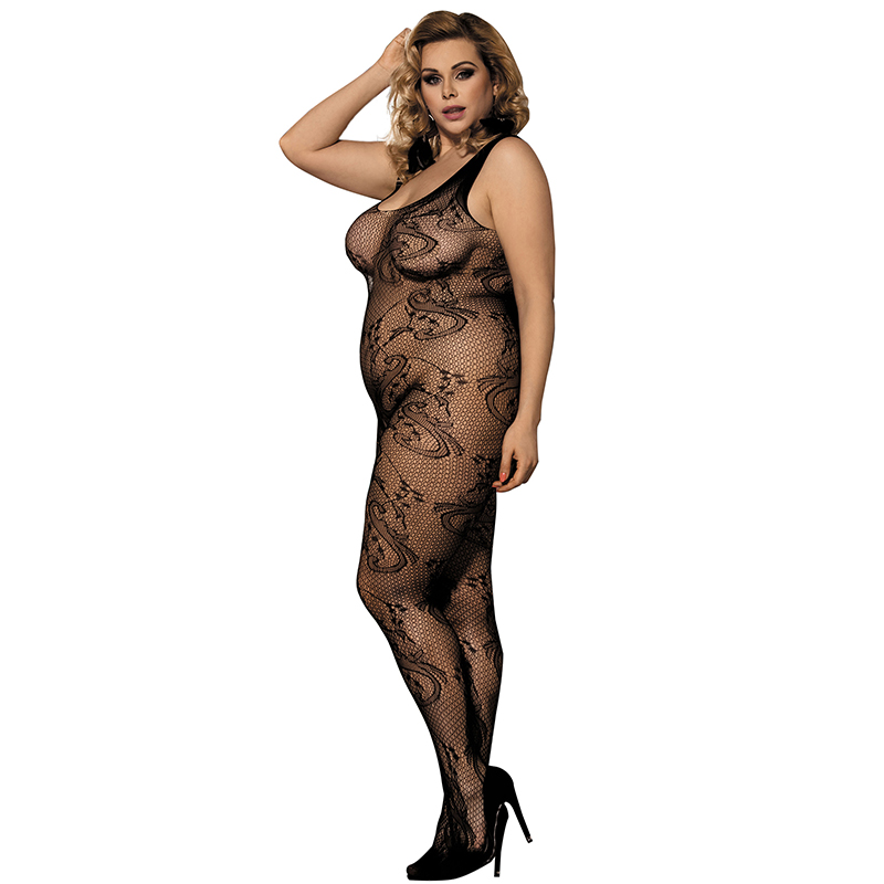 Erotic Costume Plus Size Fishnet Body Stocking Woman Body Sexy Intimates Open Crotch Body Sexy Body Suit Bodystocking H3021