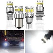 цена на 2x P21W W16W P21 5W Led Canbus White PY21W led 7440 7443 W21 5W W21W T15 1156 BA15S LED Bulb BAY15S 1157 Car Light DRL Auto 12V