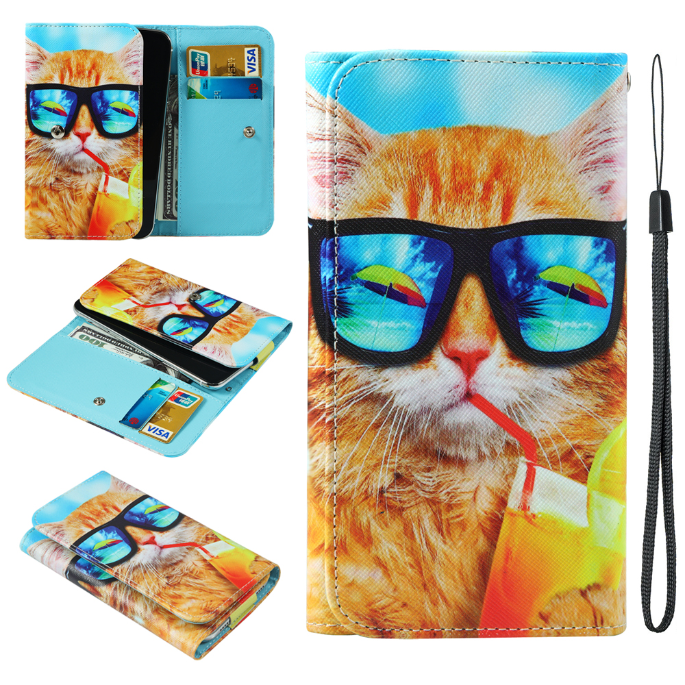 For <font><b>Ulefone</b></font> Armor 6 Mix S Power 3S 5 5S <font><b>S1</b></font> S10 S9 T2 Pro X Painted X X2 Wallet Style With Card Slot Cover Bag Phone <font><b>Case</b></font> image
