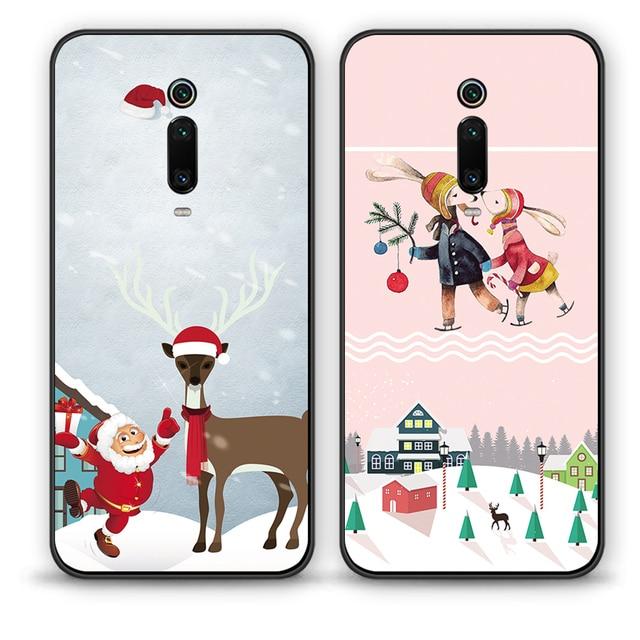 Redmi Note 7 S2 Merry Christmas Tree Bear Phone cases for Xiaomi Redmi 6A 5A 4A 4 5 6 7 Pro 5Plus GO Santa Claus soft tpu cover 3