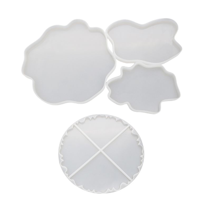 DIY Irregular Cup Tray UV Resin Epoxy Mold Jewelry Accessories Transparent Silicone Coaster Decorative Craft
