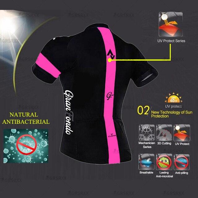 Strava conjunto de camisa de ciclismo para mulher anti-uv mtb bicicleta uniforme 2021 females' manga curta bicicleta equipe ciclismo moletom terno 3
