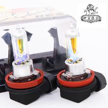 цена на 2Pcs H11 12V 55W 3000K Auto Halogen bulbs Fog Lamp Car Yellow light Xenon Bright Quartz Glass Light Bulb
