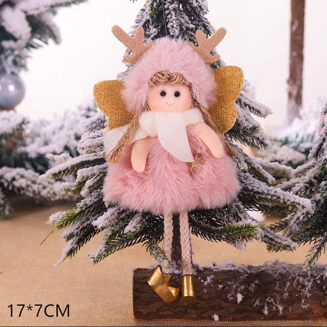 New Year 2020 Cute Santa Claus/Snowman/Angel Christmas Dolls Noel Christmas Tree Decoration for Home Xmas Navidad 2019 Kids Gift 182