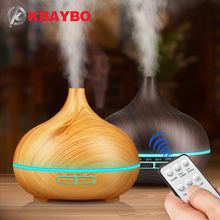 KBAYBO 300ml Air Humidifier wood grain Essential Oil Diffuser Aromatherapy diffusers with remote control Mist Maker for Home цена и фото