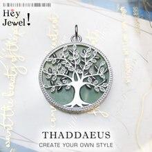 Pendentifs arbre vert 2020 en argent Sterling 925, nouveaux bijoux tendance, joyeux avenir, accessoires, cadeau pour femmes, printemps