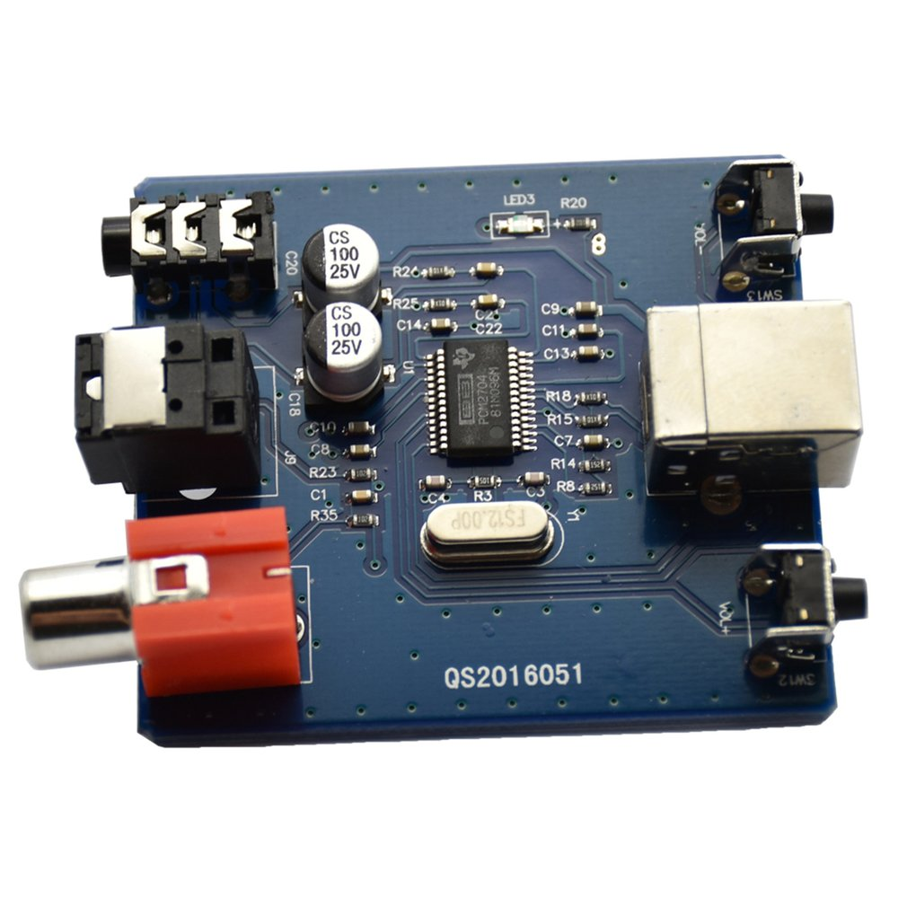 USB DAC To S/PDIF Sound Card Output F/PC 2 Channel Analog Output USB Interface Decoder Board Module Coaxial HiFi Module