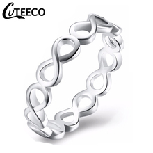 Cuteeco New Fashion Infinity Endless Love 8 Shape Rings For Women Engagement Ring Anel Feminino