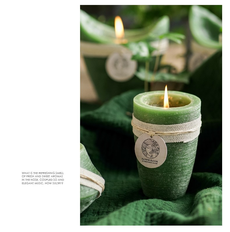Smokeless Matcha Tealight Scented Soy Candle - Scented Candles