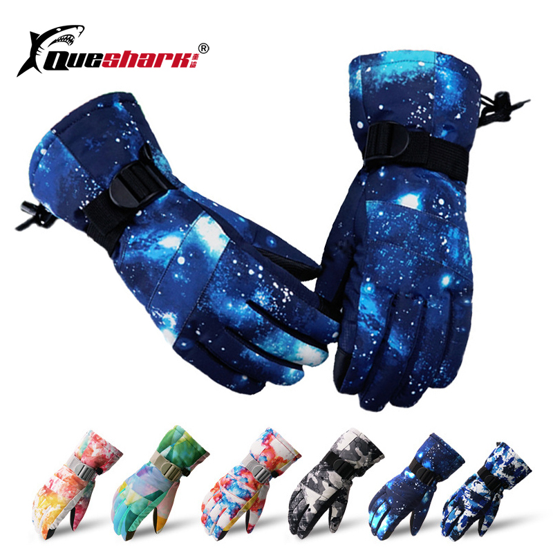 2020 New Couple Touch Screen Skiing Gloves Thickened Skid-proof Waterproof Fleece Windproof Warm Cycling Motor Snowboard Gloves