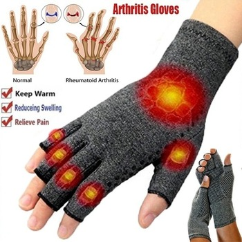 1 Pairs Arthritis Gloves Touch Screen Gloves Anti Arthritis Therapy Compression Gloves and Ache Pain Joint Relief Winter Warm gentle yoga arthritis