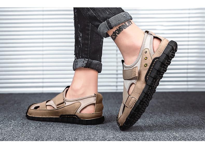 sandalias de cuero para homem sandalet homme