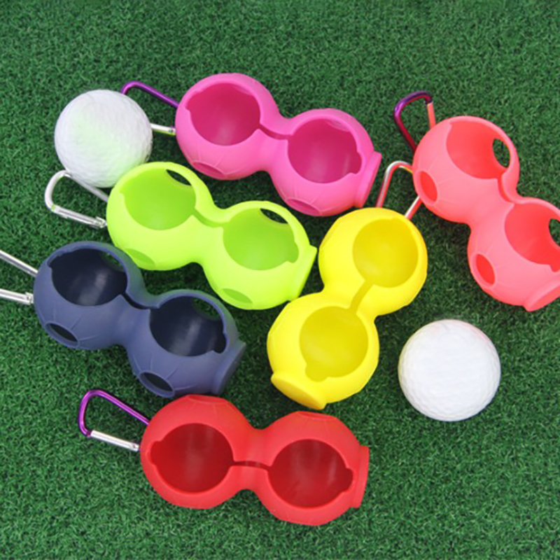 2 Pieces Golf Silicone Ball Set Golf Accessories Golf Silicone Protective Cover Can Be Hung On The Belt Golf Accessories