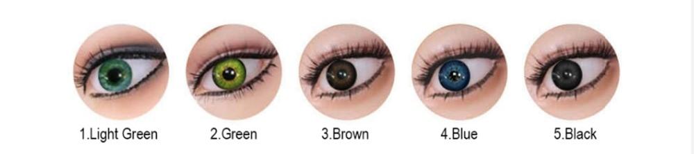 眼睛颜色挑选