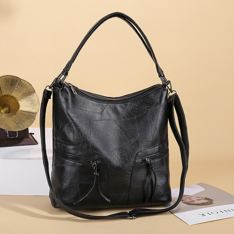 New Square Female Handbags Women Hobos Bags Designer Brand Famous Black Leather Crossbady Large Tote Bag For Ladies Shoulder Bag