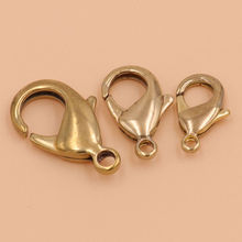 10pcs Brass Lobster claw clasps snap hook for leather craft bag key ring jewelry finding