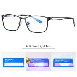 Image 5 - 안티 블루 라이트 광학 안경 프레임 남자 근시 처방 안경 프레임 지우기 컴퓨터 안경 합금 프레임 안경