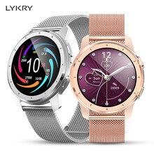Lykry MX11 Vrouwen Slimme Horloge 2020 Bluetooth Call Hartslagmeter MP3 Muziek Waterdichte Sport Horloge Mannen Voor Xiaomi Huawei apple