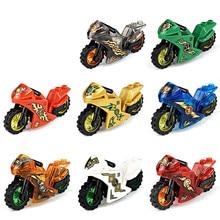 24 pçs/set mestres de spinjitzu jay cole kai zane lloyd nya mini boneca de brinquedo figura construção motocicleta bloco brinquedos presente