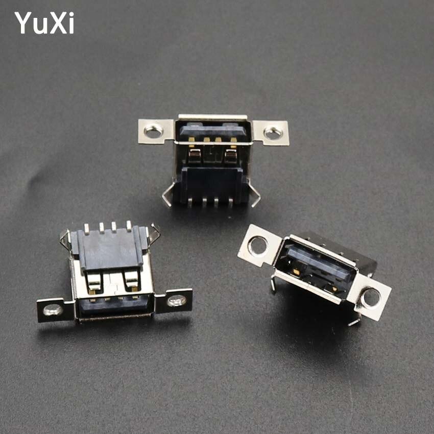 5 sztuk Micro USB 2.0 żeńskie gniazdo 4Pins gniazdo USB ładowania złącze gniazdo ładowania z otworami na śruby