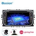 Bosion 2 din Android 10 автомобильный dvd-плеер GPS Navi USB RDS SD WIFI BT SWC для Ford Mondeo Focus Galaxy Аудио Радио Стерео головное устройство