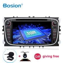Bosion 2 din android 10 carro dvd player gps navi usb rds sd wi fi bt swc para ford mondeo foco galaxy áudio rádio estéreo unidade de cabeça