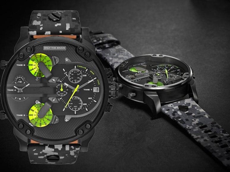 Top Brand Luxury Large Dial Watch Sports Quartz Clock Men's Watch Waterproof Gold Steel Wrist Watch Military Relogio Masculino