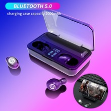 New F9 TOP Bluetooth 5.0 Earphones Fingerprint Touch Earbuds Led Display Headset