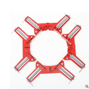 Image 1 - 4pcs 75mm Mitre Corner Clamps Picture Frame Holder Woodwork Right Angle Red