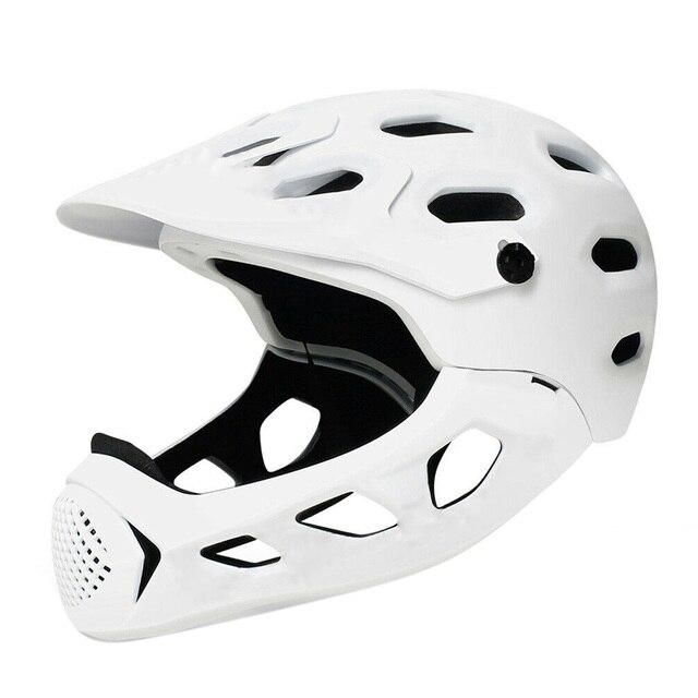 Adult Full Face Off-Road MTB Bicycle Safety Head Protective Helmet Black Bike Helmet