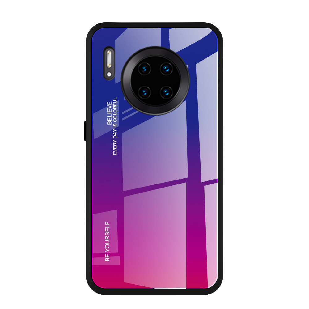 YUNAO phone case For HUAWEI series Gradient painting Mirror huawei Mate 30 Pro P30 pro...
