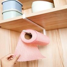 Soporte de papel de cocina colgador de baño rollo de soporte para papel de cocina estante de toalla cocina Colgador de gancho del armario estante organizador