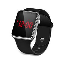 Sport cyfrowy zegarek mężczyźni kobiety zegarek LED silikonowy elektroniczny zegarek zegarki dla par zegar relogio cyfrowy montre homme tanie tanio HEZHUKEJI CN (pochodzenie) Nie wodoodporne STAINLESS STEEL Klamra Moda casual Nie pakiet 38mm RUBBER Wyświetlacz LED