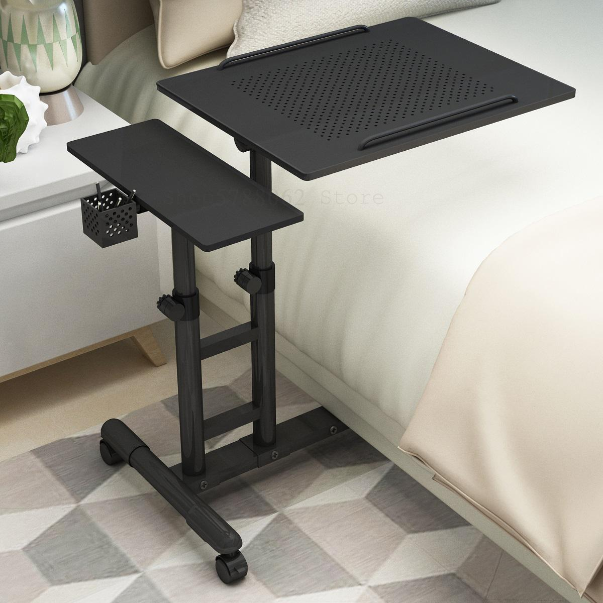 Регулируемый компьютерный стол для дома ноутбук стол простой современный мобильный компьютерный стол с подъемным прикроватные столики по...
