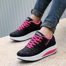 Buty kobieta 2020 pu skórzane oddychające sneakersy damskie buty wodoodporne kliny buty platformowe damskie obuwie damskie trampki