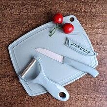 Three-piece ceramic knife fruit set cutting board kitchen peeling