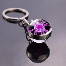 Биологические противораковые клетки, фото, стеклянный шар, брелок, кольцо для ключей, подвеска для сумки, продукты для исследования рака, по...