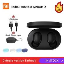 Xiaomi redmi airdots 2ワイヤレスbluetooth 5.0充電イヤホンの耳ステレオ低音イヤホンでai制御トゥーレワイヤレスイヤフォン
