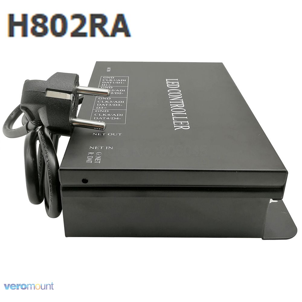 H802RA Art-Net protocol for MADRIX 4ports 4096pixels salve or master LED pixel controller