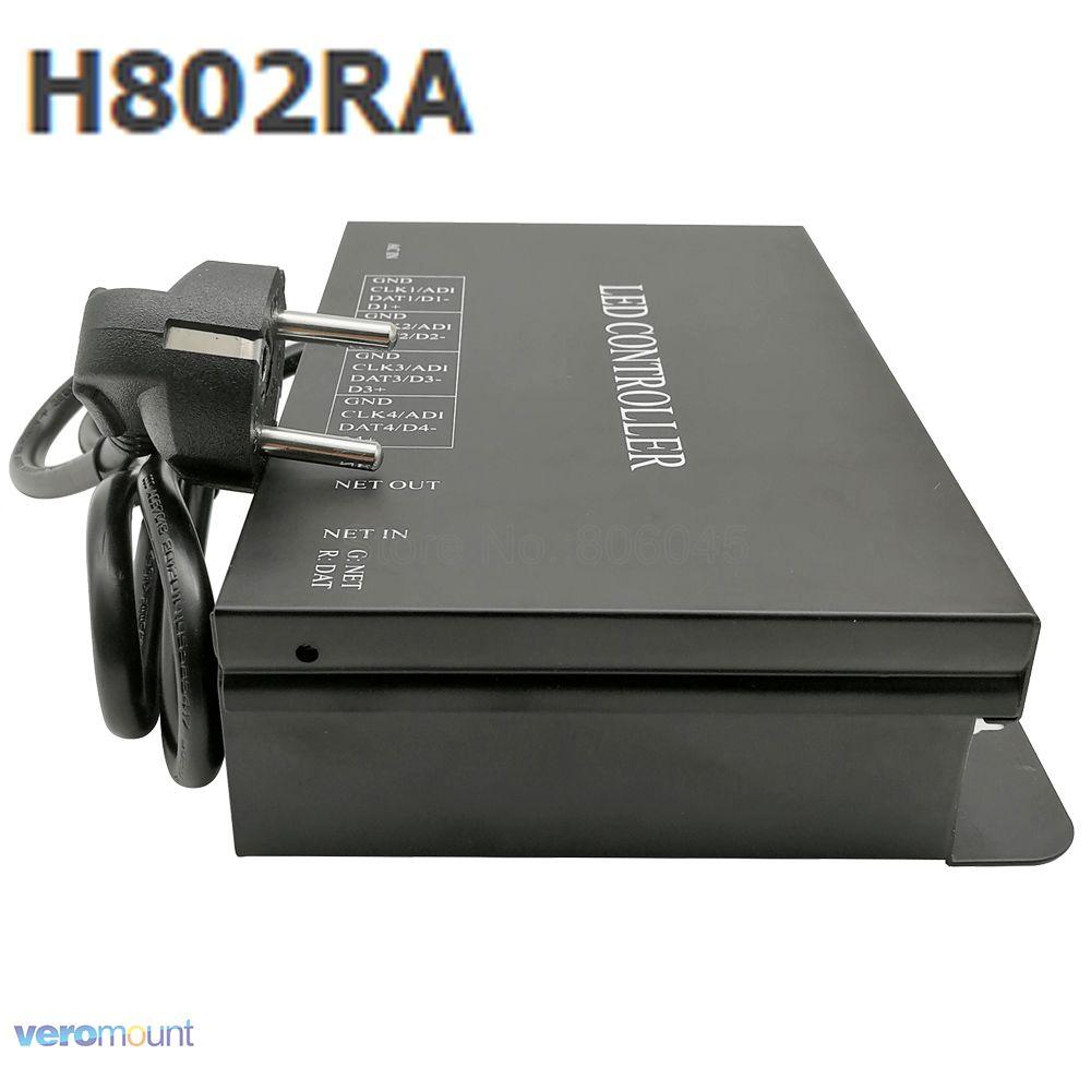 Madrix 4 포트 용 h802ra art net 프로토콜 4096 픽셀 salve 또는 master led 픽셀 컨트롤러 RGB 컨트롤러 등 & 조명 - title=