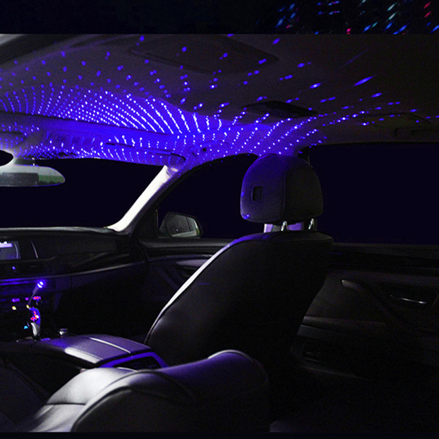 Car Roof Star Light Interior LED Starry Laser Atmosphere Ambient Projector USB Auto Decoration Night Home Decor Galaxy Lights