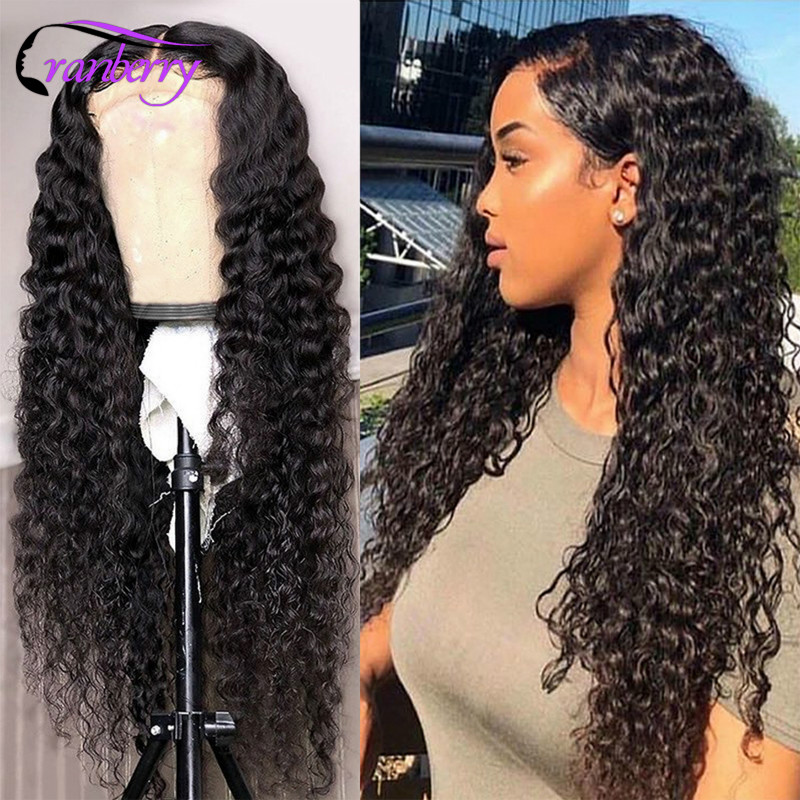 Cranberry Hair Deep Wave Wig 360 Lace Frontal Wig For Women 100% Remy Human Lace Front Human Hair Wigs Brazilian Hair Wig Outlet