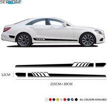 2Pcs Car Stickers Door Side Stripe Decals for Mercedes Benz W205 W204 W203 C Class C180 C200 C300 C63 coupe C43 Auto Accessories