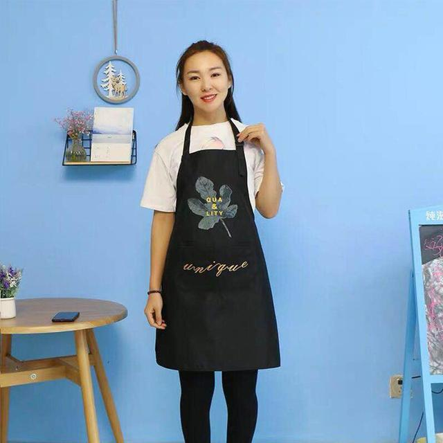 1Pcs Striped Waterproof Polyester Bib Apron Woman Adult Bibs Home Cooking Baking Coffee Shop Cleaning Aprons Kitchen Accessory 3