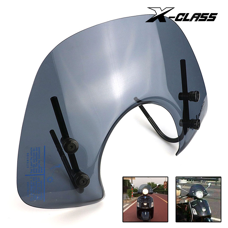X-CLASS Motorcycle Clear Windscreen Front Windshield Spoiler Air Deflector For VESPA GTS 250 300 Reduce Wind Speed Airflow