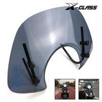 X-CLASS Motorrad Clear Scheiben Frontscheibe Spoiler Air Deflektor Für VESPA GTS 250 300 Reduzieren Wind Geschwindigkeit Luftstrom