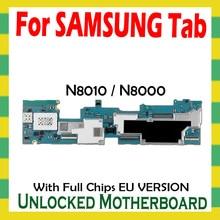 잠금 해제 마더 보드 삼성 갤럭시 탭 참고 10.1 N8010 N8000 태블릿 WLAN 셀룰러 로직 보드 전체 칩 메인 보드 안드로이드