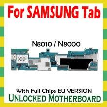 Unlocked Moederbord Voor Samsung Galaxy Tab Note 10.1 N8010 N8000 Tablet Wlan Cellulaire Logic Board Volledige Chips Moederbord Android