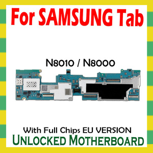 Image 1 - Unlocked Motherboard For Samsung Galaxy Tab Note 10.1 N8010 N8000 Tablet WLAN Cellular logic board full chips mainboard Android