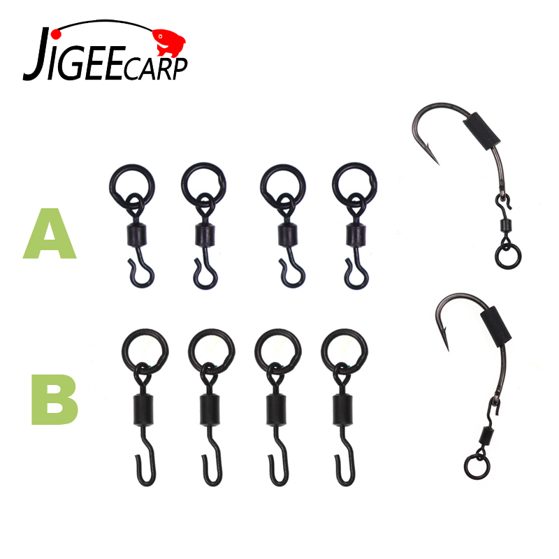 JIGEECARP 10/25pcs Carp Fishing Spinner Swivel For Ronnie Rig Quick Change Swivel Connector Carp Coarse Fishing Terminal Tackle